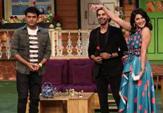 Behen Hogi Teri Team on the sets of The Kapil Sharma Show