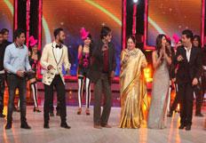 Amitabh Bachchan promotes his film Bhootnath Returns on the set of Indias Got Talent Season 5