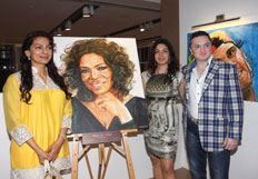 Celebs throng to Nawaz Modis solo art exhibition