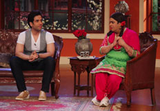 Jeetendra on the sets of Comedy Nights With Kapil