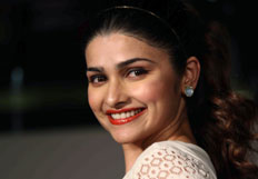 Prachi Desai walks the ramp at Centrals fashion show