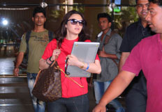Preity Zinta arrives after attend the IPL matches in UAE
