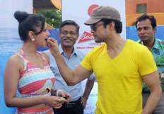 Promotion of film Samrat & Co at the 16th anniversary of Water Kingdom