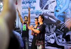 Ranveer Singh Ali Zafar and Parineet iChopra at theTattoo convention