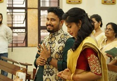 Actress Archana Kavi and Abish Mathew engagement Photos