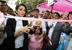 Karisma Kapoor inaugurated Western Basics Kids Wear Photos