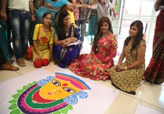 Anjali at Special Rangoli Competition Stills