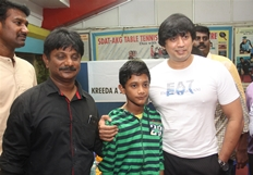 Prashanth Opening in Kreeda Corporate Table Tennis Tournament Photos