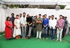 Pawan Kalyan At Nithiin New Movie Opening Photos