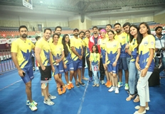 Celebrity Badminton League 4th match Inauguration Part1