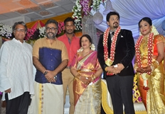 Jayachithra Son Amresh Wedding Reception Stills