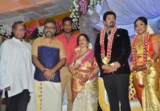 Jayachithra Son Amresh Wedding Reception Stills