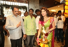Pranitha Subhash Launches VRK Silks Photos