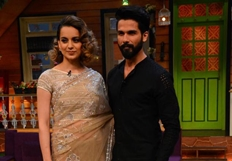 Shahid and Kangana on the The Kapil Sharma Show for Rangoon