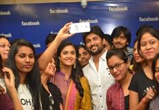 Nani & Keerthi Suresh At Facebook Office Photos