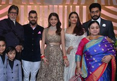 In pictures : Virat and Anushka's Mumbai reception