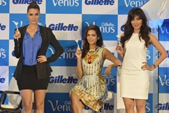 Launch of Gillette 'Venus' razor Stills