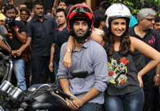 Aditya Roy Kapur And Parineeti Chopra On A Bike Yatra Madras cafe