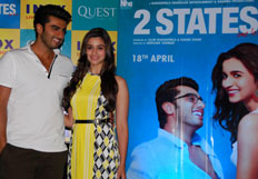 Alia and  Arjun promotes film 2 States