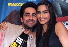 Ayushmann and  Sonam promotes film Bewakoofiyaan