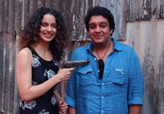 Kangana and Sai Kabir Shrivastav promotes film Revolver Rani