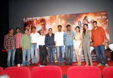 Prabhu Deva Ajay Devgn and Yami Gautam at Action Jackson trailer launch