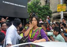 Vidya Balan at various events in kolkata for Bobby Jasoos promotions