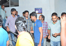 Oohalu Gusagusalade Team Visits Bhramarambha Theater at Hydrabad