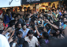 Parineeti Chopra and Aditya Roy Kapur at Shree Balaji Janta Ice Cream Centre at Surat