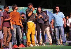 Kumari 21F Team Success Tour in Vijayawada