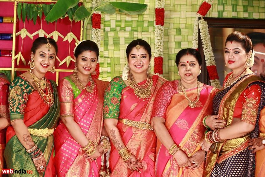 Sridevi Vijayakumar Seemantham Function Photos Tamil Event