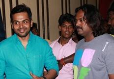 Karthi Visits Vettri Theatre For Kashmora Release Photos