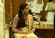 Sonam Kapoor celebrates Republic Day at Neerja Bhanots School