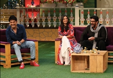 Arshad Warsi on the sets of The Kapil Sharma Show