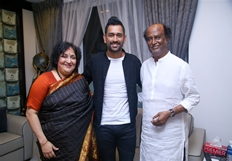 MS Dhoni Meet Superstar Rajinikanth Photos