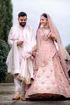 Virat and Anushka tie the knot. See the pictures..