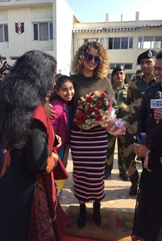 Kangana Ranaut in Jammu for Rangoon Promotions