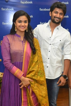 Nani & Keerthi Suresh At Facebook Office Photos