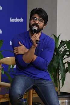 Ram Charan Facebook Office Visit Photos