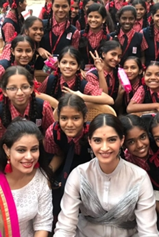R Balki and Sonam Kapoor promotes Padman with Kids