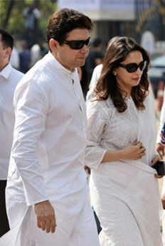 Celebrities arrives to pay their last respects to the late actress Sridevi