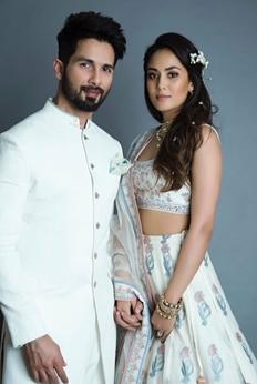 Pics :  Shahid Kapoor and Mira Rajput Sizzle at Lakme Fashion Week