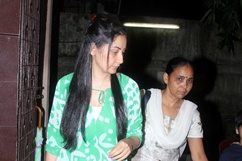Manyata Dutt arrive for the screening of film Policegiri Stills