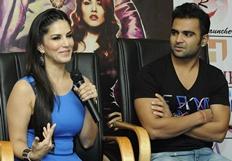 Sachin, Sunny promotes film Jackpot - Stills