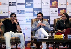 Saif, Sonakshi, Jimmi promotes upcoming film Bullett Raja - Stills