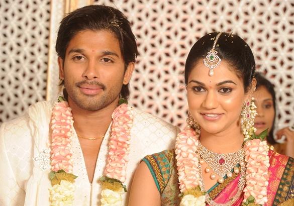 Wedding Photos Of South Indian Actors Allu Arjun With Sneha Reddy