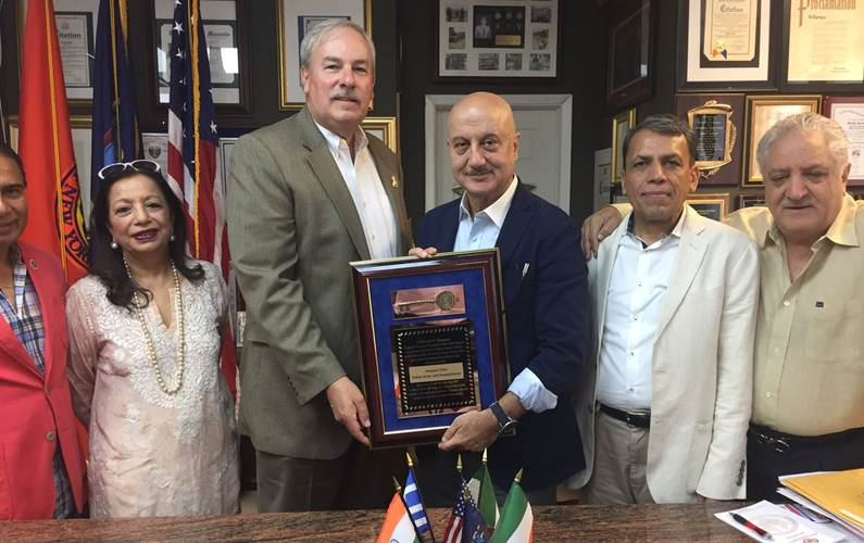 Anupam honoured with citation from Nassau county