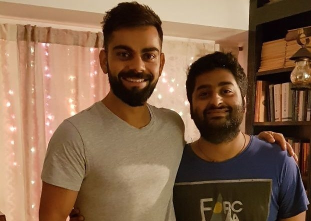 Virat Kohli 'fanboy moment' with Arijit Singh