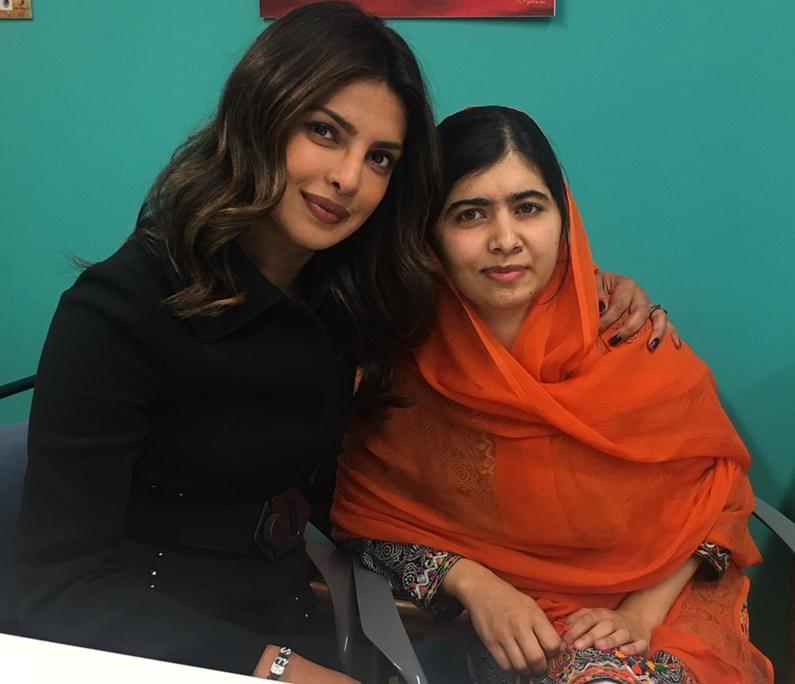 PeeCee shares picture with Nobel Peace Laureate Malala Yousafzai
