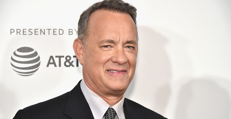 Tom Hanks gets into character for Spielberg's next